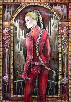 Original illustration  Cara fantasy art Sword of by JankaLart