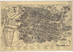 Madrid. Planos de población. (1700). 1950