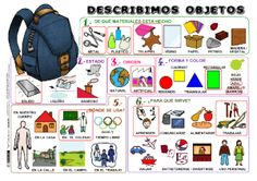 Describe Objects P Spanish Grammar, Spanish Vocabulary, Spanish 1, Spanish Teacher, Spanish Classroom, How To Speak Spanish, Teaching Spanish, Spanish Language, Spanish Lesson Plans