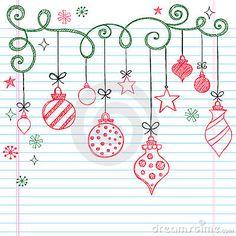 Hand gezeichnet flüchtige Gekritzel-Weihnachtsverzierung (Christmas Design)