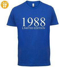 1988 Limierte Auflage / Limited Edition - 29. Geburtstag - Herren T-Shirt - Royalblau - L - T-Shirts mit Spruch | Lustige und coole T-Shirts | Funny T-Shirts (*Partner-Link)