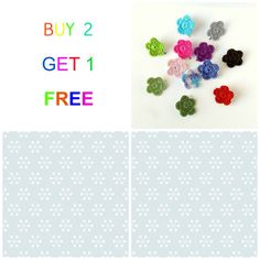 Girls Flower Hair Clips  Buy TWO Get ONE FREE  Choose by mialyne, $5.00