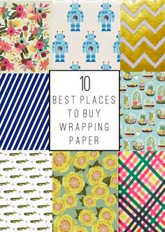 Tell:  The 10 Best Places To Buy Wrapping Paper