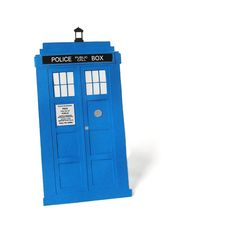 Doctor Who Tardis Postcard with Fancy Transparent by RisaRocksIt