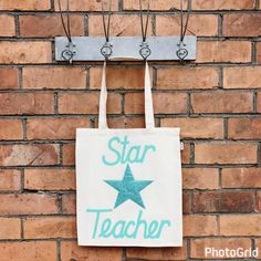 A personal favourite from my Etsy shop https://www.etsy.com/uk/listing/513045567/star-teacher-thank-you-tote