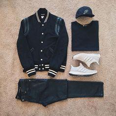 WEBSTA @ ldn2hk - 75° and sunny. #outfitgrid @outfitgrid @dennistodisco // Jacket: #saintlaurent #teddyjacket // Cap: #palaceskateboards // Tee: #alexanderwang #tbyalexanderwang // Denim: #slp // Shoes: #adidas #ultraboost