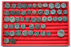 Amlash bronze rings with figurines with numbers, 1st millenium B.C. Private collection