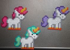 Handmade Perler Bead Unicorn Magnet