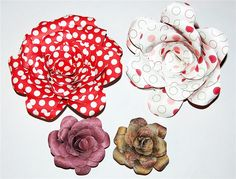 Making Paper Roses - more details  includes a cut file or cut your own Capadia Designs: