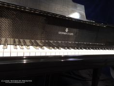 Custom Steinway & Sons piano with carbon fiber finish, Piano of 3 produced in the United States. Piano Restoration, Restoration Services, Carbon Fiber, Woods, Things To Come, United States, Tea, Classic, Carbon Fiber Spoiler