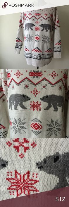 Mossimo Christmas sweater Uglier than some, cuter than most 🎁🐻🎄Perfect for a white elephant gift or to wear to a holiday party! Mossimo Supply Co. Sweaters
