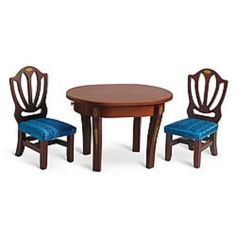 American Girl Caroline Table & Chairs For 18 Inch Dolls NRFB