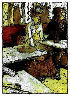 L'absinthe - oil on canvas painting by Edgar Degas in rendition Edgar Degas Artwork, Oil On Canvas, Painting, Painting Art, Paintings, Painted Canvas, Drawings