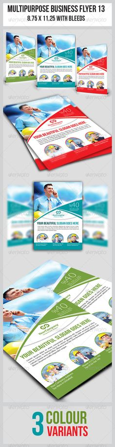 """Multipurpose Business Flyer 13 #GraphicRiver this simple and generic flyer template perfectly use for multipurpose businesses. Easily edit to fit your needs. Colour : CMYK Files : .psd Size : 8.5"""" x 11"""" / 300dpi Fully layered Smart object layer to edit images images used are not included. help.txt included for fonts and images used details Created: 4March13 GraphicsFilesIncluded: PhotoshopPSD Layered: Yes MinimumAdobeCSVersion: CS4 Tags: brand #building #business #businesses #clean #color…"""