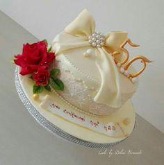 Buttercream Birthday Cake, Cake Icing, Wedding Anniversary Cakes, 40th Anniversary, Brithday Cake, Single Layer Cakes, Cake Shapes, Fondant Decorations, Husband Birthday