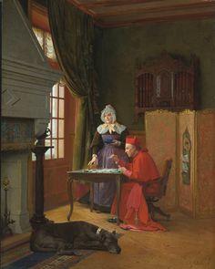 Jean-Georges Vibert (1840-1902) — The  Three Patiences  (1598x2000)
