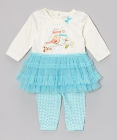 Take a look at the Absorba Blue 'Little Tweet Heart' Tutu Tee & Leggings - Infant on #zulily today!