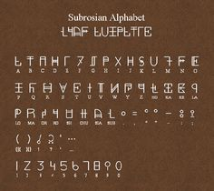 Subrosian Alphabet by Sarinilli on DeviantArt