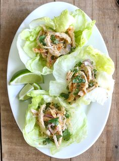 Season with Spice - an Asian Spice Shop: Toasted Coconut & Chicken Lettuce Wraps Lettuce Wrap Recipes, Chicken Lettuce Wraps, Clean Eating, Healthy Eating, Healthy Food, Dessert Healthy, Paleo Recipes, Cooking Recipes, Easy Asian Recipes