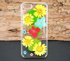 Pressed flower iPhone 6 CaseReal Floral Note4 by UUniquecase