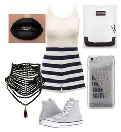 """Spring!!! #16"" by sydnaiqueenz on Polyvore featuring MDS Stripes, Converse, JanSport and Agent 18"