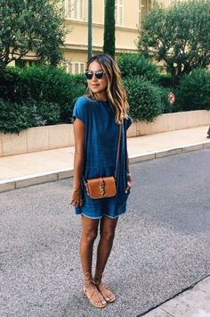 Denim Tunic | fashion in 2019 | Pinterest | Fashion, Dresses and Style