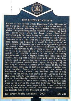 The Blizzard of 1888, Historic Marker
