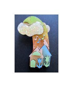 Vintage+LUCINDA+HOUSE+PIN++Tulips++Music+by+JewelryBeeVintage