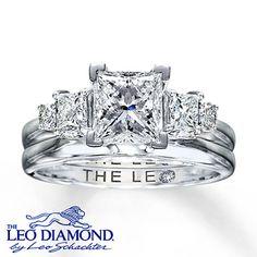 Kay - Leo Diamond Enhancer Ring 1/2 carat tw 14K White Gold