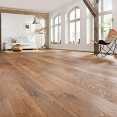 Parquet from the German market leader. HARO Parquet flooring in many wood types,. Parquet Flooring, Wooden Flooring, Hardwood Floors, House Paint Interior, Interior Design, Floor Design, House Design, White Walls, Home Decor Inspiration