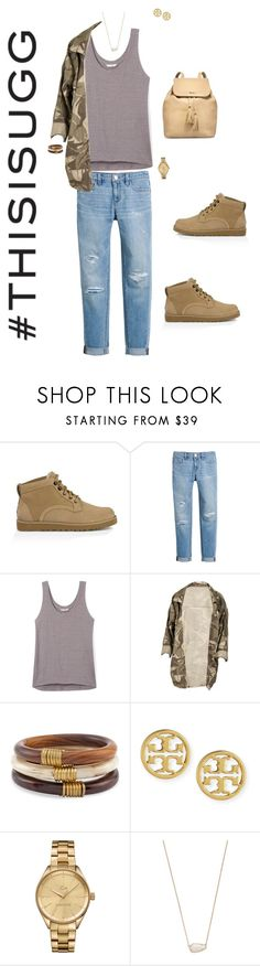 """Play With Prints In UGG: Contest Entry"" by ccoss ❤ liked on Polyvore featuring UGG Australia, White House Black Market, Rebecca Minkoff, Chico's, Tory Burch, Lacoste, Kendra Scott and thisisugg"