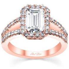 Halo Rose Gold Engagement Ring