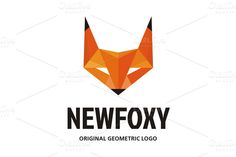 Check out NewFoxy Logo in Geometric Style by serkorkin on Creative Market