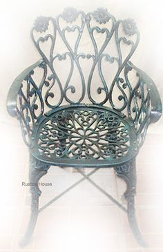 Rustica House Folk art garden chairs are artisan crafted of cast aluminum. This production technique makes our outdoor furniture strong and rigid. #myRustica