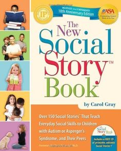 The New Social Story Book, Revised and Expanded 10th Anniversary Edition: Over 150 Social Stories that Teach Everyday Social Skills to Children with Autism or Asperger's Syndrome, and their Peers by Carol Gray, http://www.amazon.com/dp/1935274058/ref=cm_sw_r_pi_dp_JmMBqb0H5CEJ6
