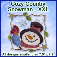 6101791 A Cozy Country Snowman Design Pack - XXL