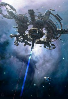 Space station / portal / outer space / sci fi / futuristic / techie