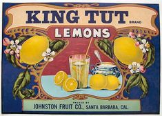 fruit crate stickers king tut brand johnston fruit company