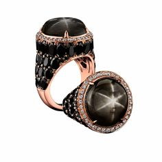 The Black Star Sapphire ring worn by Brad Pitt and designed by Angelina Jolie and Robert Procop.