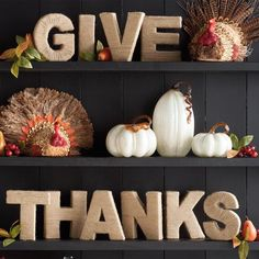"""""""Give Thanks"""" Jute Letters"""