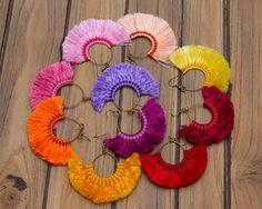 Hoop Tassels Earrings/hippie/boho by CHEZMOIMYHOME on Etsy