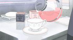 anime, coffee, and gif image