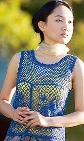 Ravelry: 28-21 Sawayaka Cotton Motif Vest pattern by Pierrot (Gosyo Co., Ltd)