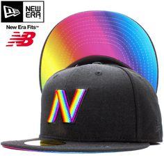New balance×New Era 59FIFTY Cap Under Visor Black Rainbow