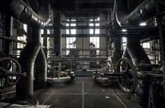 steam punk - abandoned power station. Luxembourg.