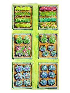 Planting Plans Inspired by the White House Kitchen Garden Raised Vegetable Gardens, Vegetable Garden Planning, Home Vegetable Garden, Veggie Gardens, Raised Garden Bed Plans, Building A Raised Garden, Raised Beds, Raised Garden Beds Irrigation, Planting Plan