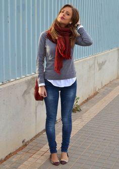 Bufanda que se puede combinar con cualquier estilo