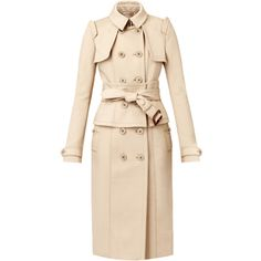 Burberry Corset Trench Coat ($2,795) ❤ liked on Polyvore