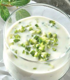 Sopa de pepino con menta
