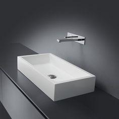 håndvask rektangulær til bordplade i Monolith